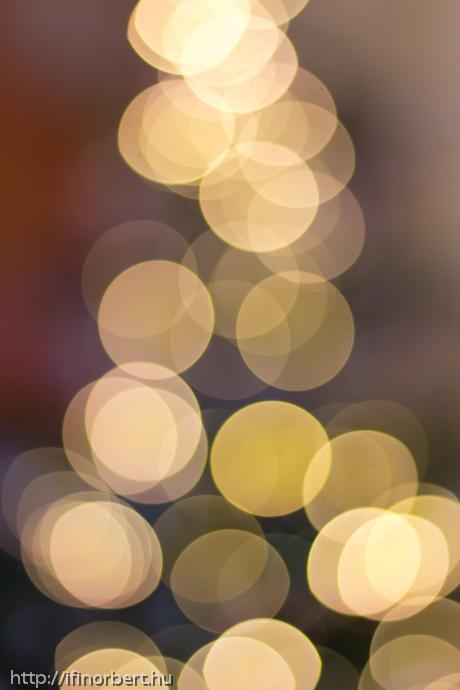Karácsonyfa bokeh
