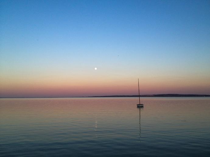 Balaton naplemente után
